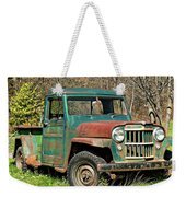 Willys Jeep Pickup Truck Weekender Tote Bag