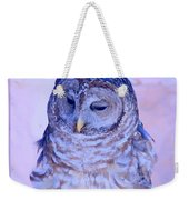 Wind Blown Owl  Weekender Tote Bag