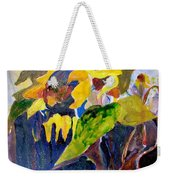 Wind Blown Sunflowers Weekender Tote Bag