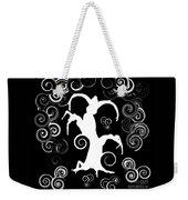 Wind Dancing - White On Black Silhouettes Weekender Tote Bag