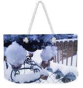 Wind Snow Chimes Weekender Tote Bag by Robert Knight