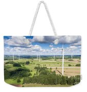 Wind Turbines In Suwalki. Poland. View From Above. Summer Time. Weekender Tote Bag