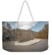 Winding Country Road In Winter Weekender Tote Bag