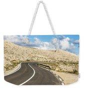 Winding Road On The Pag Island In Croatia Weekender Tote Bag