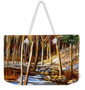 Winding Stream Weekender Tote Bag