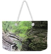 Water Falling Throughout The Gorge Weekender Tote Bag