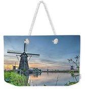 Windmill At Kinderdijk Weekender Tote Bag