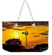 Windmill In Texas Sunset Weekender Tote Bag