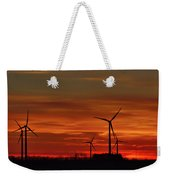 Windmill Sunrise Weekender Tote Bag