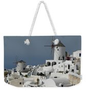 Windmills Of Santorini Weekender Tote Bag