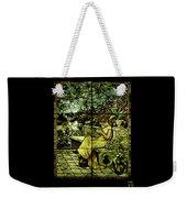 Window - Lady In Garden Weekender Tote Bag