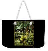 Window - Lady In Garden Weekender Tote Bag