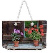 Window And Geraniums Weekender Tote Bag by Yair Karelic