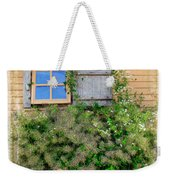 Window Floral In Plymouth Weekender Tote Bag