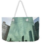 Window Reflections In The Windy City Weekender Tote Bag