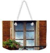 Window Shutters And Flowers I Weekender Tote Bag