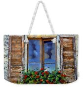 Window Shutters And Flowers IIi Weekender Tote Bag