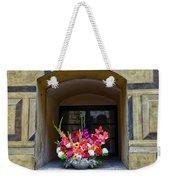 Window Sill Flower Arrangement At Cesky Krumlov Castle In The Czech Republic Weekender Tote Bag