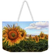Window To The Sunflower Fields Oil Painting Weekender Tote Bag