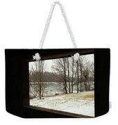 Window To Winter Weekender Tote Bag