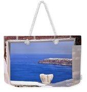 Window View To The Mediterranean Weekender Tote Bag