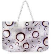 Window Waterdrops Weekender Tote Bag