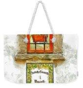 Window With Flower Pot Weekender Tote Bag