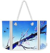 Window With The Mountain View Weekender Tote Bag