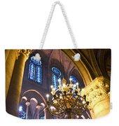 Windows At The Notre Dame Cathedral In Paris Weekender Tote Bag by Kim Bemis