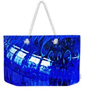Windows Reflected On A Blue Bowl 3 Weekender Tote Bag