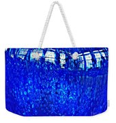 Windows Reflected On A Blue Bowl Weekender Tote Bag