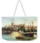 Windsor From The Thames   Weekender Tote Bag by Robert W Marshall