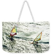 Windsurfing Silver Waters Weekender Tote Bag