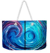 Windswept Blue Wave And Whirlpool 2 Weekender Tote Bag