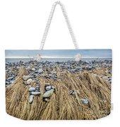 Windswept Grass At Lawrencetown Beach, Nova Scotia Weekender Tote Bag
