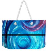 Windwept Blue Wave And Whirlpool Diptych 1 Weekender Tote Bag
