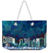 Windy Chicago Illinois Skyline Party Nights 20180516 Weekender Tote Bag