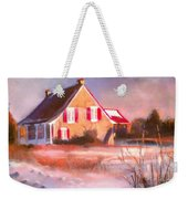 Windy Cold Sunny Day Weekender Tote Bag