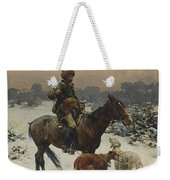 Windy Day By Alfred Wierusz-kowalski Weekender Tote Bag