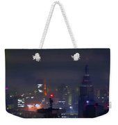 Windy Night Lights Abstract Weekender Tote Bag