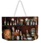 Wine - Rum And Tobacco Weekender Tote Bag by Mike Savad