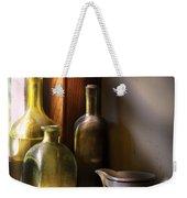 Wine - Three Bottles Weekender Tote Bag by Mike Savad