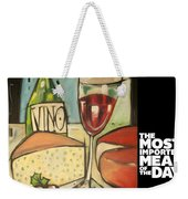 Wine And Cheese Imported Meal Weekender Tote Bag