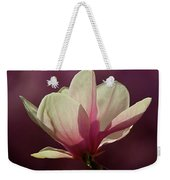 Wine And Cream Magnolia Blossom Weekender Tote Bag