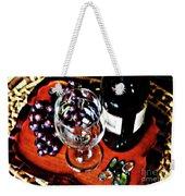 Wine And Dine Weekender Tote Bag