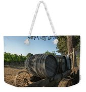 Wine Barrels At Vineyard Weekender Tote Bag
