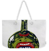 Wine Bottle Weekender Tote Bag
