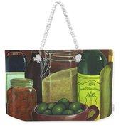 Wine Bottles And Jars Weekender Tote Bag
