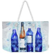 Wine Bottles Reflection  Weekender Tote Bag
