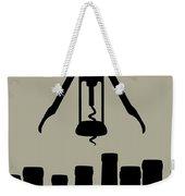 Wine Graphic Silhouette Weekender Tote Bag